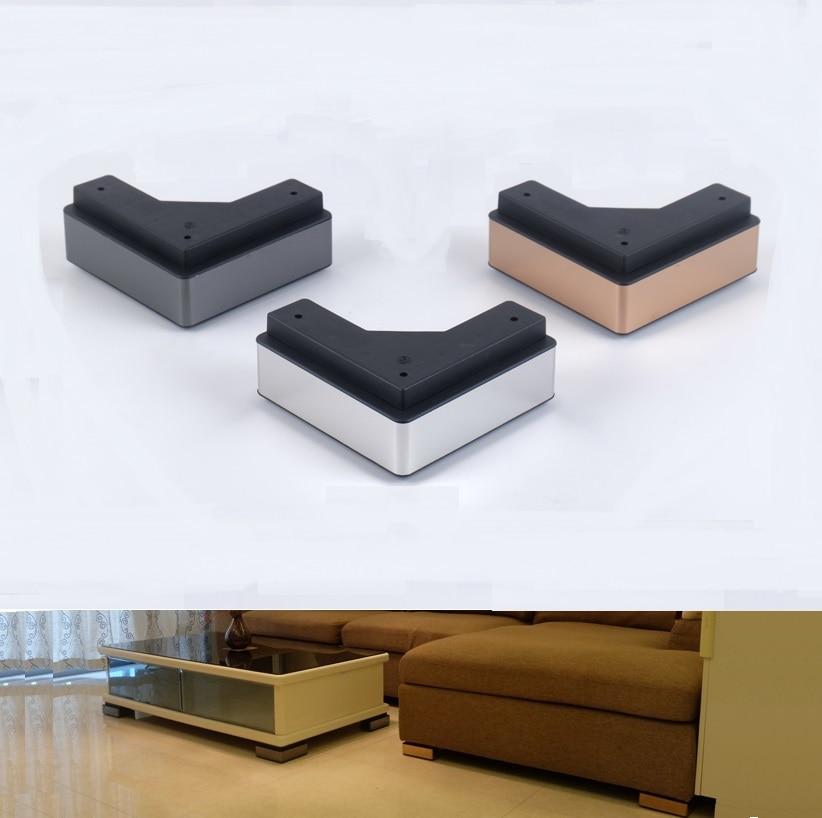 2Pcs/Lot Premintehdw Square Corner Sofa furniture feet foot leg Coffee tea bar foot