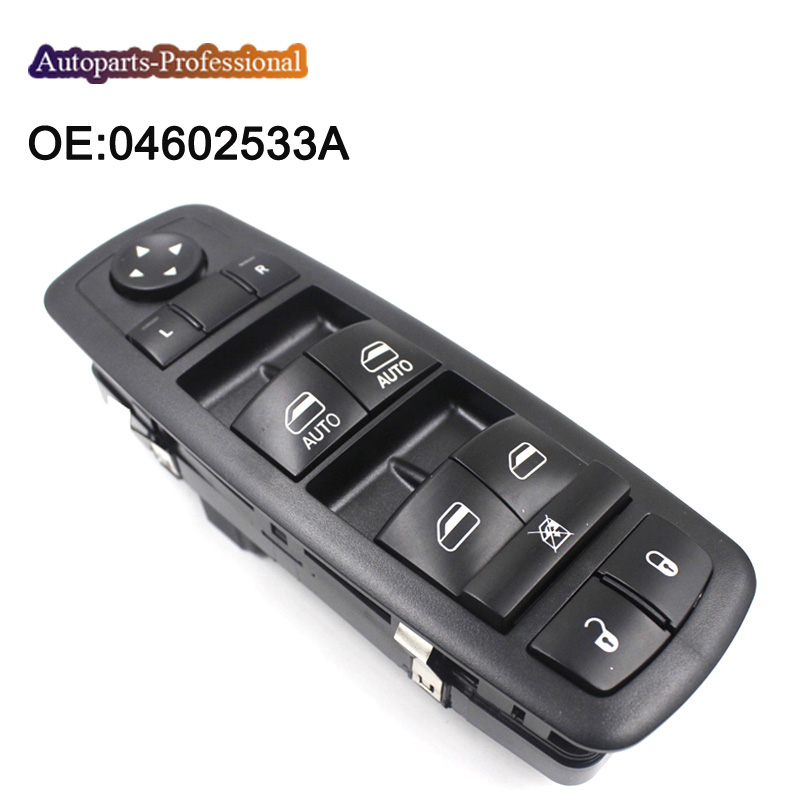 New Driver's Side Door Power Window Switch For Chrysler Dodge Jeep OEM 04602533AF 2016 mini clubman one coopers side door power window switch center console panel covers accessories car stickers for f54 6 door