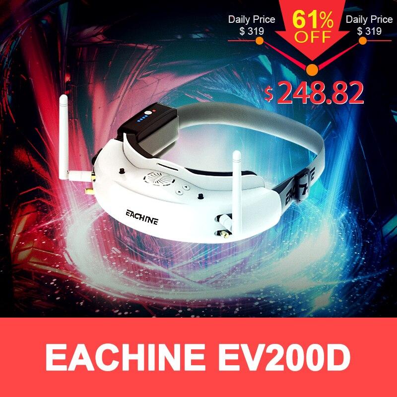 Eachine EV200D 1280*720 5.8g 72CH Verdadeira Diversidade FPV Goggles HD Porta em 2D/3D Embutido DVR