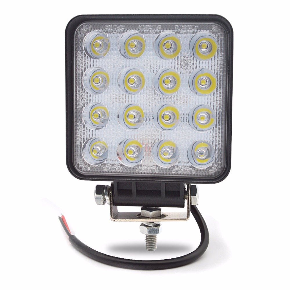 Safego 48W LED WORK light 12V OFF ROAD 4X4 տրակտոր TRUCK 24V MOTORCYCLE ATV Offroad մառախուղի լամպ 48W LED աշխատանքային DRIVING LIGHT լամպեր