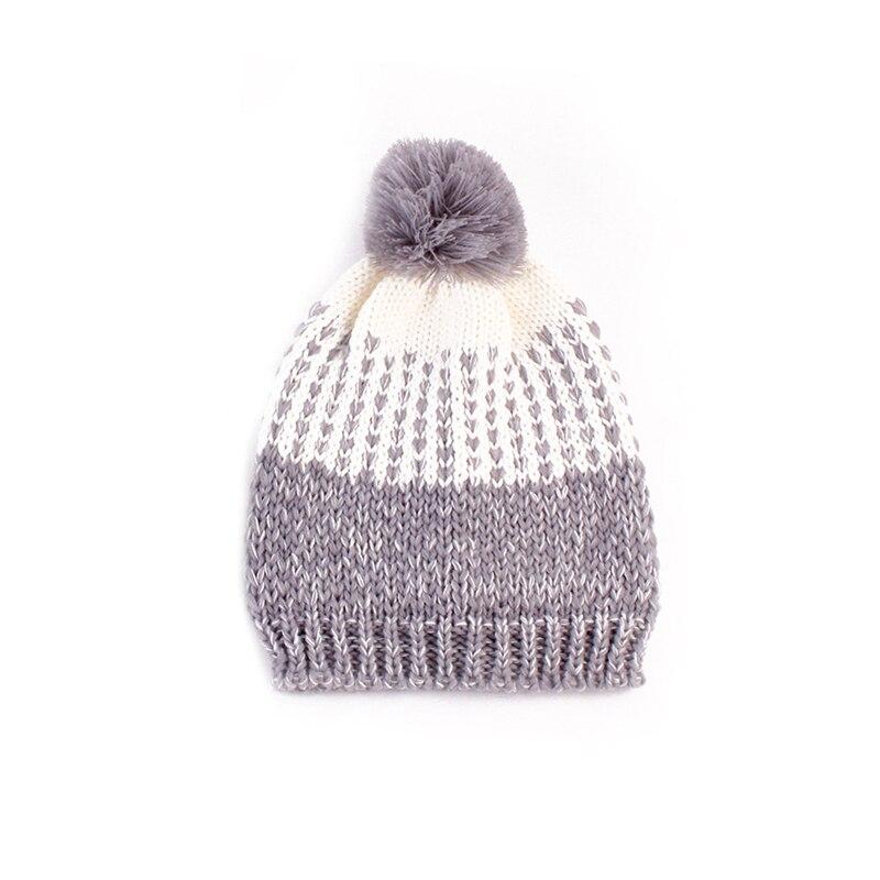 Kids Baby Toddler Boys Girls Winter Knit Warm Soft Beanie Hat Hairball Cap