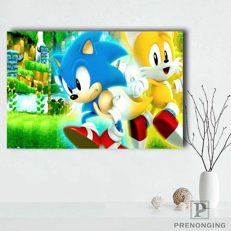 G928 Sonic Boom Q Tuval Boyama Duvar Ipek Poster Kumas Baski
