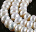 8*10MM White Saltwater Akoya Pearl Shell Pearls Loose Beads Jasper Jewelry Semi-finished Necklace Natural Stone PNS135