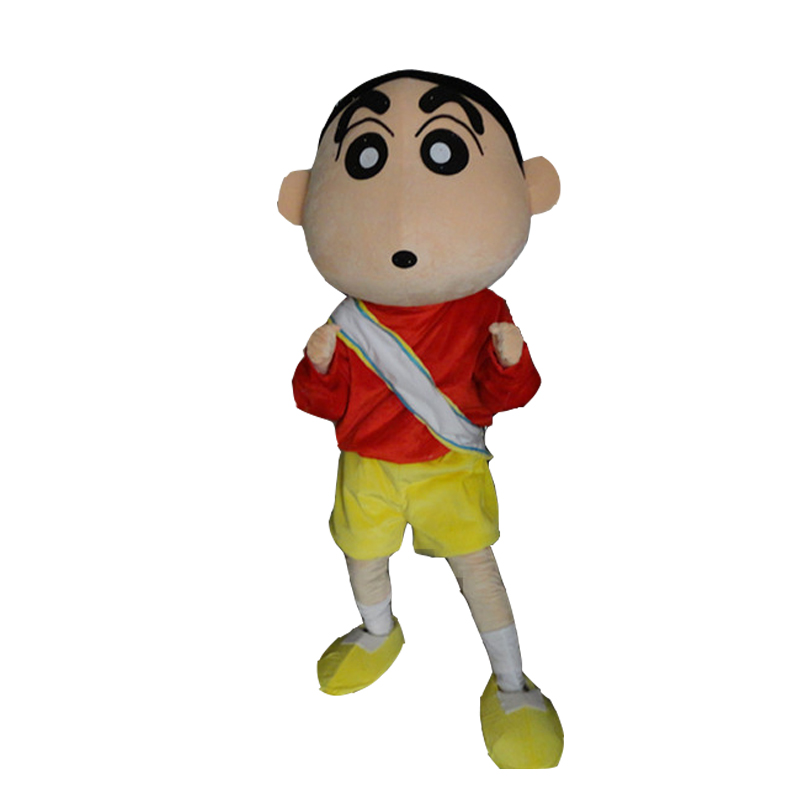 Anime mascotte Crayon shin-chan Costume Cosplay tenues taille adulte dessin animé mascotte costume pour carnaval Festival Commercial robe