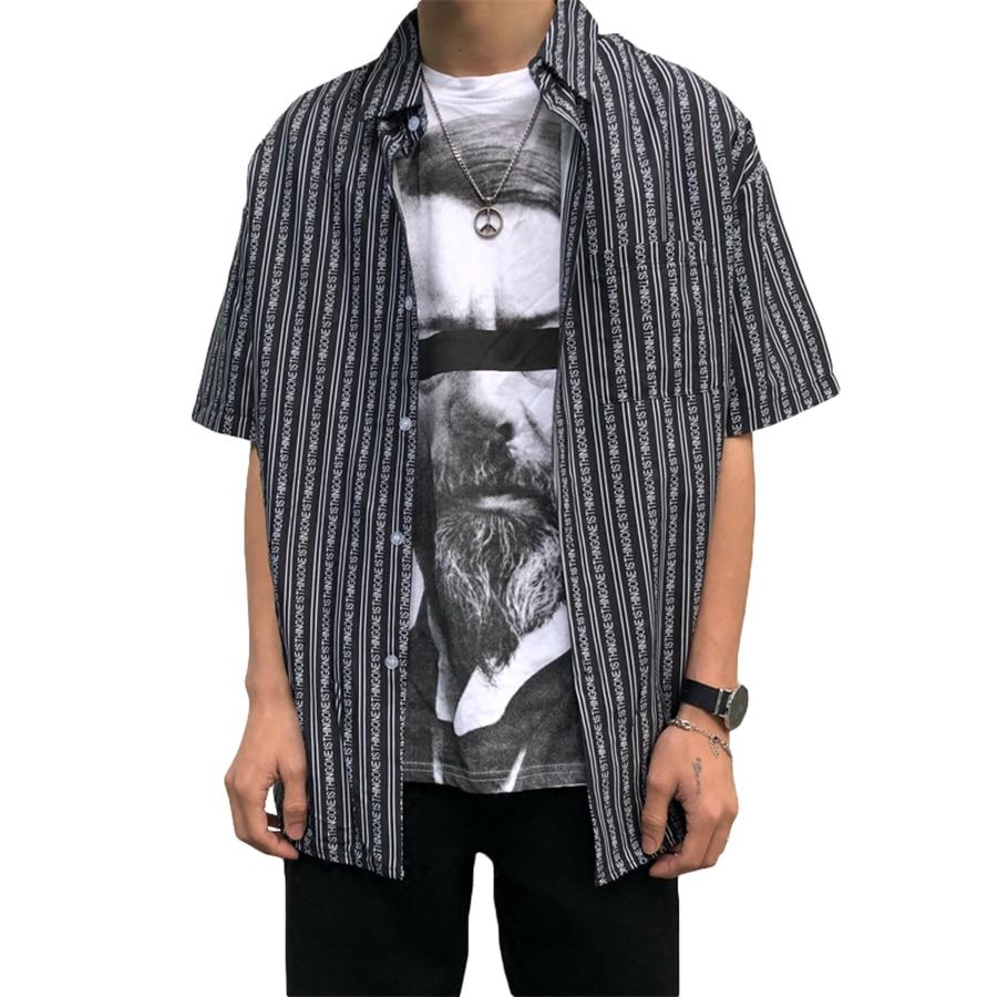 408d9a53c0b Printed Western Shirts Men Regular Casual Flowers Short Sleeve Stylish Fashion  Shirt For Men Striped Streetwear ...