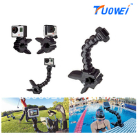 TUOWEI For Gopro Accessories Jaws Flex Clamp Mount And Adjustable Neck For GoPro Hero 4 3