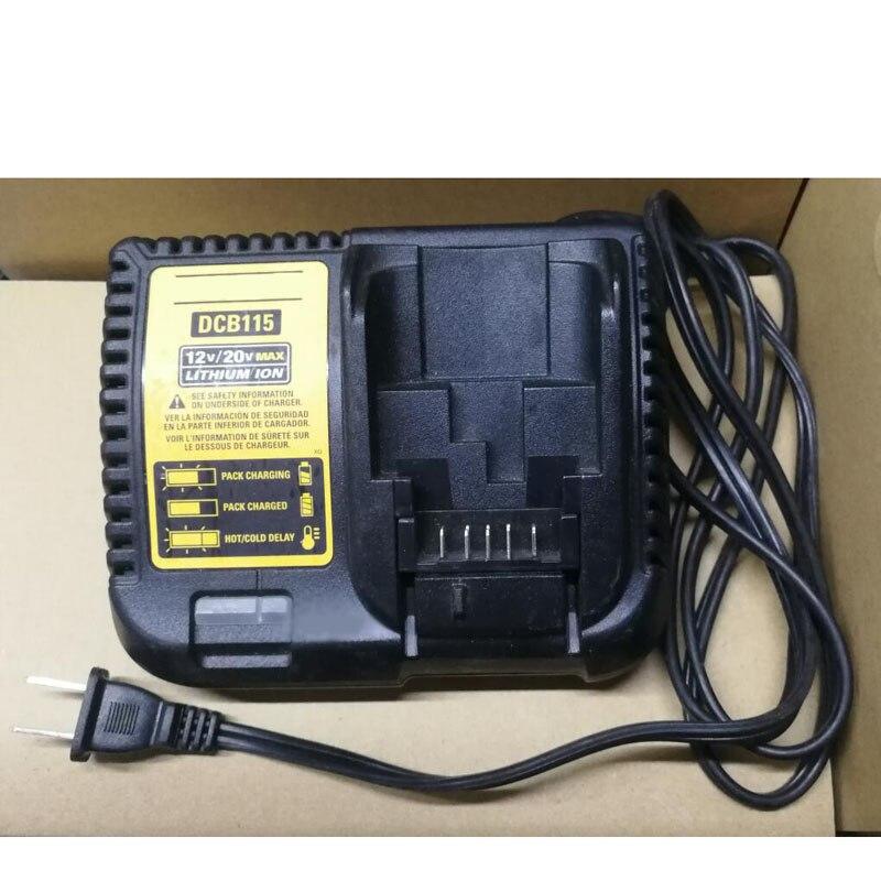Original DCB115 Li-ion Battery Charger Used Reconditioned For DeWalt 10.8V 12V 14.4V 18V DCB101 DCB200 DCB140 DCB105 DCB200 14 4v c 4000mah power tool battery for dewalt dcb140 xj dcb140 dcd735l2 dcf835c2 dcf835l2 dcl030 xr dcd936l2