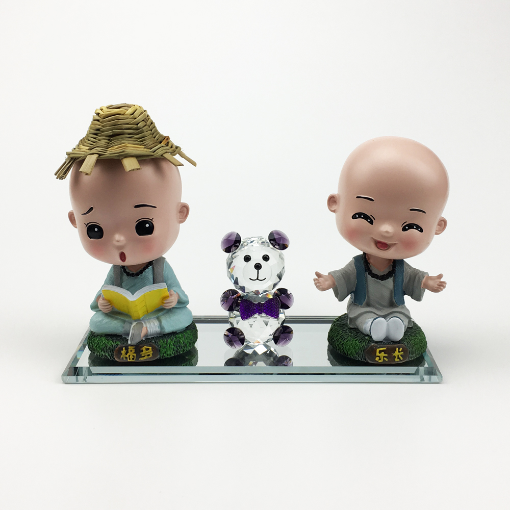 Image 3 - car decoration free combination car doll creative Car Ornaments Auto Interior Decorations car accessories Crystal Material-in Ornaments from Automobiles & Motorcycles