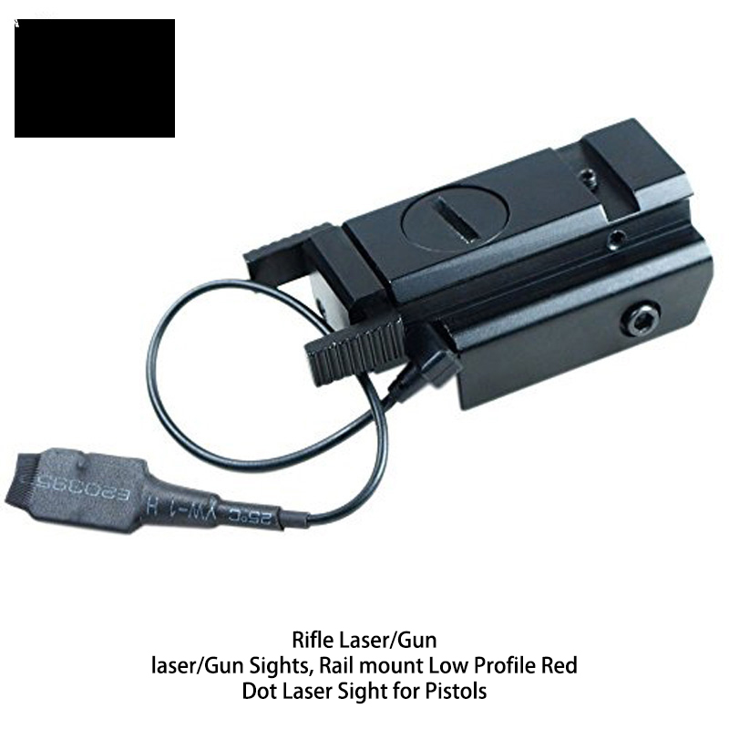 Rifle Laser/Gun laser/Gun Sights, Rail mount Low Profile Red Dot Laser Sight for Pistols