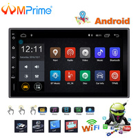 AMPrime 7 Car Radio 2 Din GPS Navigation Android Autoradio Stereo Touch Screen MP5 Multimedia Player USB Bluetooth WiFi Player