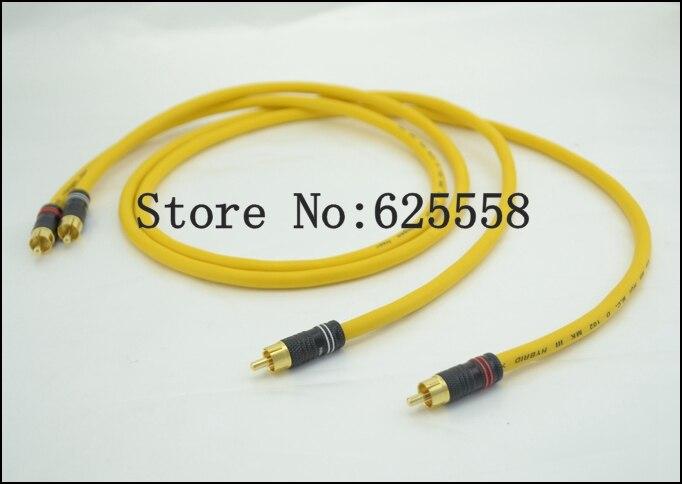 One Pair 5M DIY Van Den Hul VDH RCA Interconnect Cable hifi audio rca cable