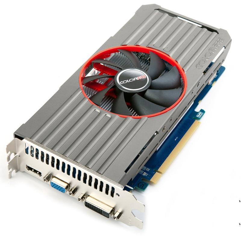 ФОТО Used original for Colorful R7 240 1G DDR5 128bit DVI HDMI VGA PCI-E 3.0