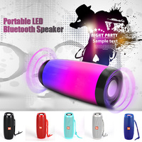Portable LED Bluetooth Speaker Bluetooth 4.2 HIFI Stereo Bass Subwoofer Colorful LED Lights Hands Free Support TF FM USB Flash