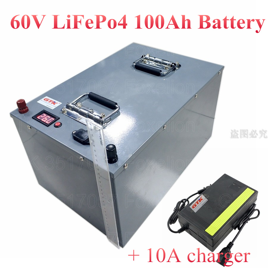 60v 100ah Lifepo4 Battery Deep Cycle Electric Scooter For