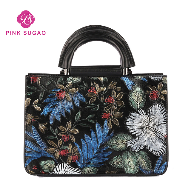 eeb3e744ad4d8 Pink sugao fashion shoulder bag women luxury crossbody bag designer  flower-printed bags china style bag for lady genuine leather