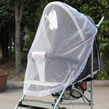 Safe Mesh Buggy White New Newborn Toddler Infant Baby Stroller Crip Netting Pushchair Mosquito Insect Net(China)