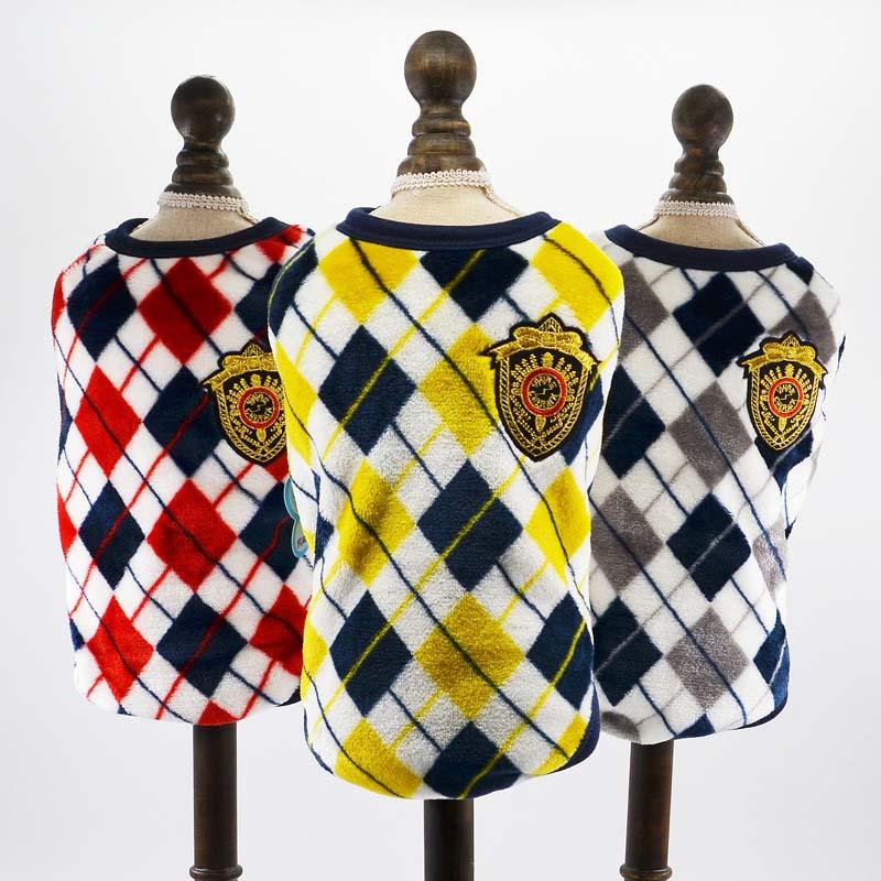 Plaid Large Dog Vest Keep Warm Soft Fleece Dog Sweater Coat Pet Clothes Labrador Husky Big Dogs Costume 2XL 3XL 4XL 5Xl 6XL1