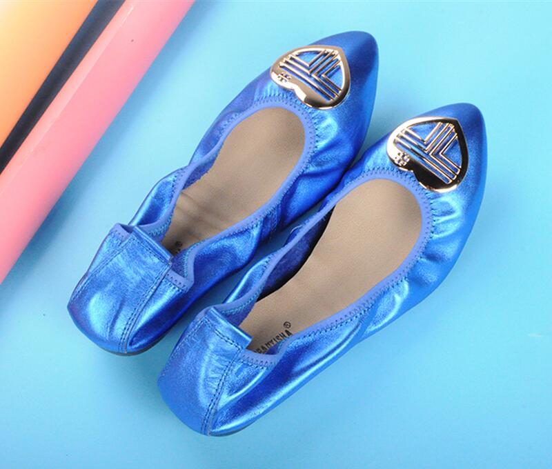 Scoop Cuir bleu black 2019 Coeur Roll Européen Chaussures Sauvages Egg Et Simples bleu Américain Taille Fond Mou Royal Noir De Nouveau Grande Femmes Forme argent rouge En H8wn4xqB