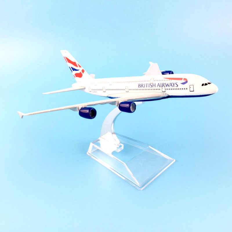 BRITISH AIRLINES 16CM A380 BRITISH AIRWAYS   METAL ALLOY MODEL PLANE AIRCRAFT MODEL  TOY AIRPLANE BIRTHDAY GIFT