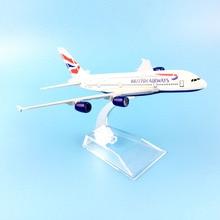 Британский AIRLINES 16 см A380 BRITISH AIRWAYS сплав металла модель самолета Модель самолета игрушки подарок на день рождения