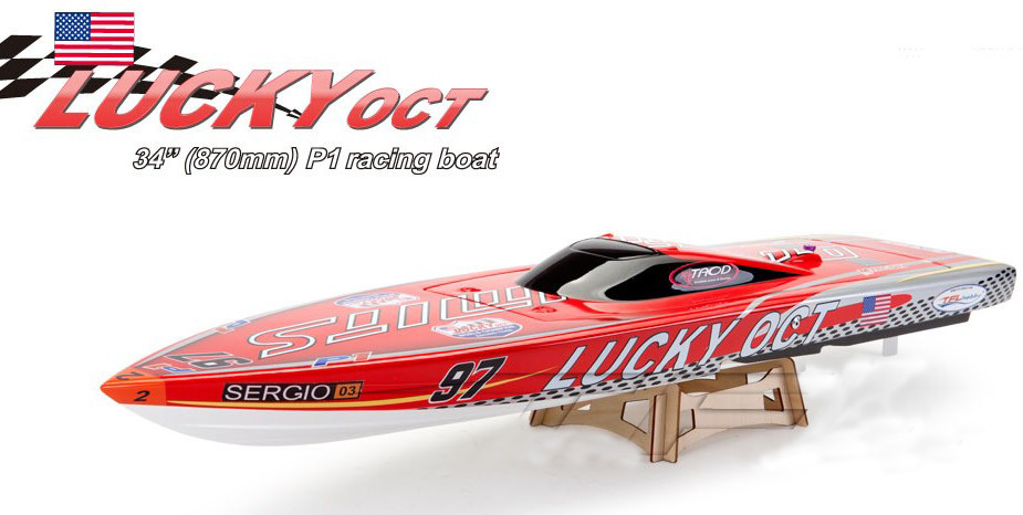 Lucky Oct 34 870mm Electric Brushless Racing Boat 1126 with 3660 Motor 120A ESC