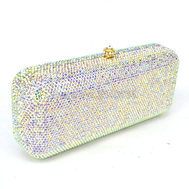 LaiSC Luxury Crystal Clutch Bag