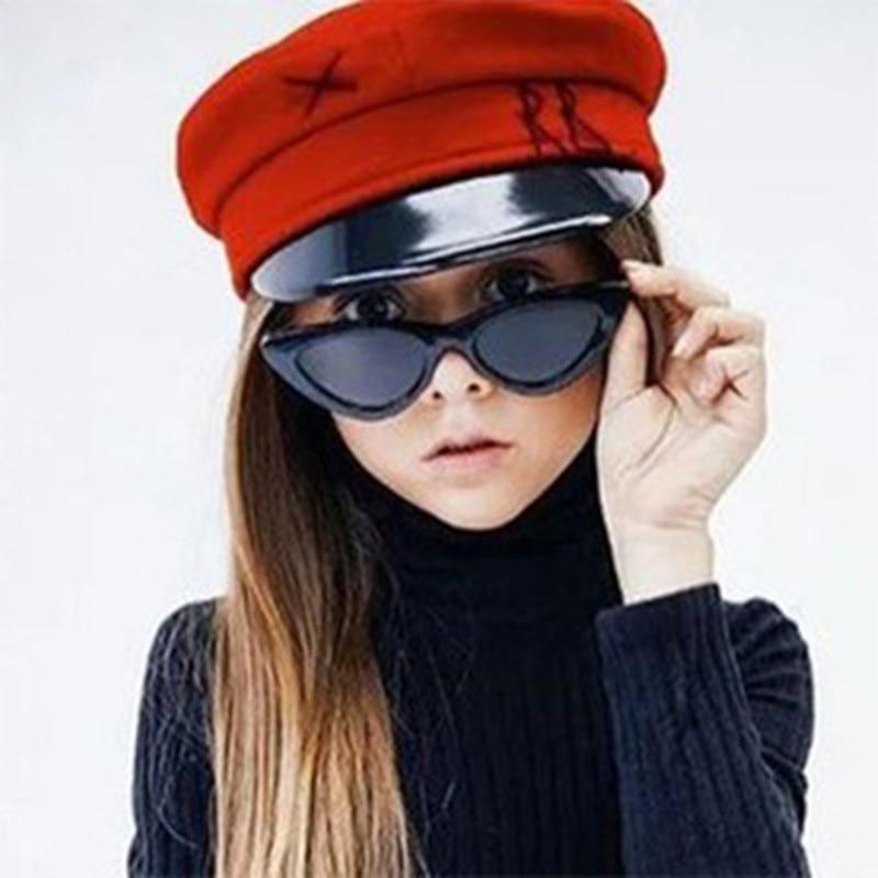 Ywjanp 2019 New Kids Sunglasses Boys And Girls Children Cute Triangle Cat Eyes Sunglasses UV400 Glasses Shade Baby Oculos UV400