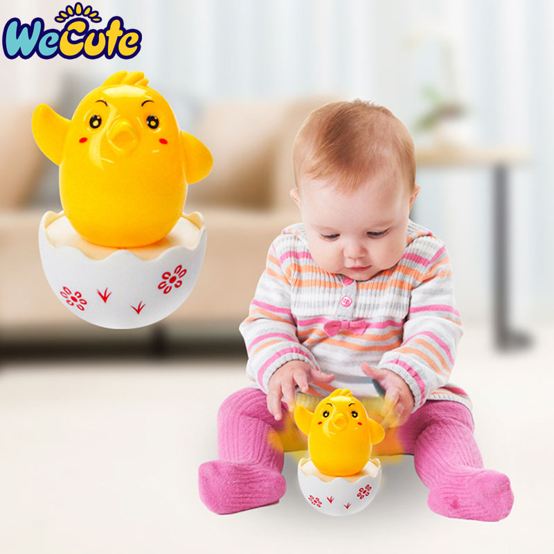 Wecute Baby Toys 0-12 Months Fun Chick Tumbler Toys Baby Rattles Toys Infant Toddler Educational Toys Boys Girls Birthday Gifts