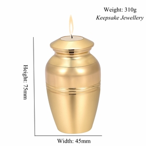 Image 3 - In Memory of Loss Lover Mini Cremation Urn Engravable Funeral Candlestick Hold Ashes Keepsake Stainless Steel Cremation Jewelry
