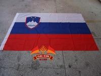 Slovenia National Flag 100 Polyster 120 180CM Anti UV Digital Printing Flag King Slovenia Banner