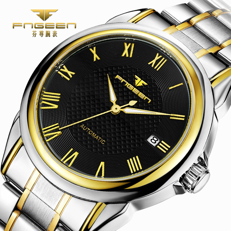 High Quality Tourbillon Mens Watches Top Brand Luxury Automatic Watch Stainless Steel Calendar Male Clock Men Mechanical Hodinky 2017 gold watches men automatic watch day date calendar display high quality mechanical tourbillon watch luxury brand clock male