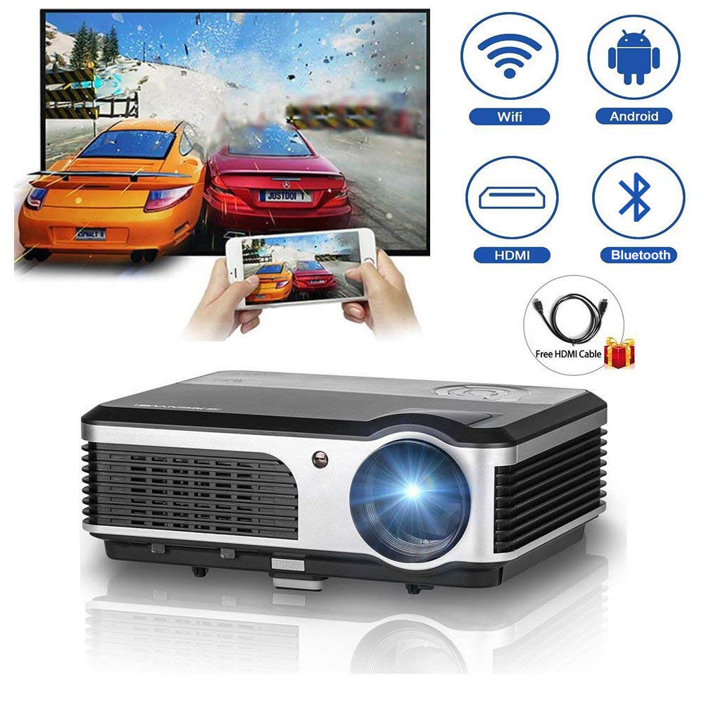 Caiwei Digital Led Projector Home Theater Beamer Lcd: CAIWEI Full HD Video Home Theater Projector Android