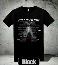 Billie Eilish Tour 2019 Signature T-Shirt WHEN WE ALL FALL ASLEEP, WHERE DO Go Men  Adult Slim Fit T Shirt S-XXxl Top Tee