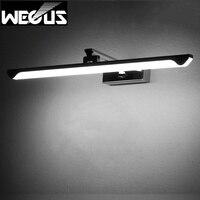 Novel rotatable mirror light stainless steel+acrylic bathroom wall lamp adjustable reading picture lighting