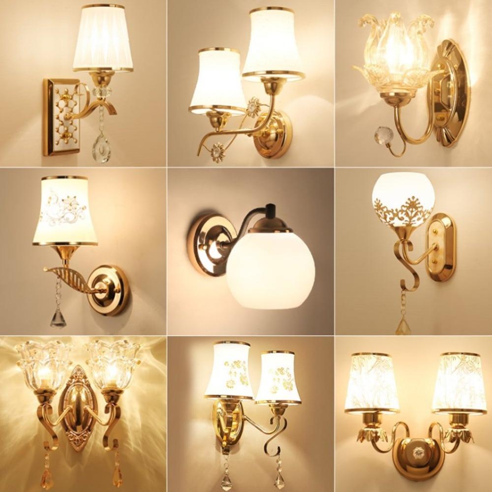 wall led background tv bedroom simple living decoration luxury modern lamp crystal lights lighting indoor lamps
