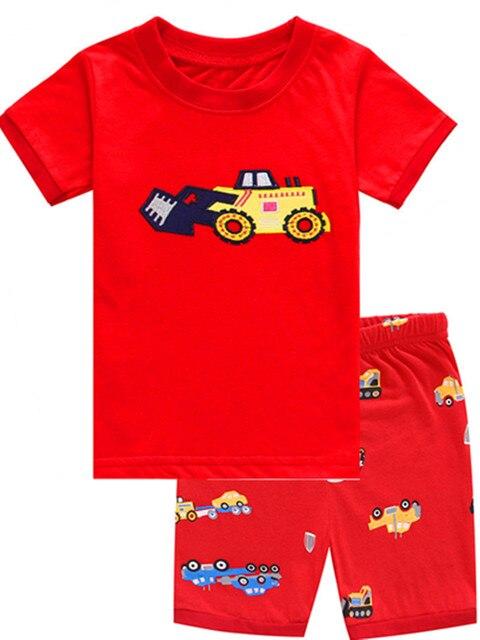 258788d3d Children Cartoon Pajamas Sets Girls Summer Pyjamas Kids Short Sleeve ...