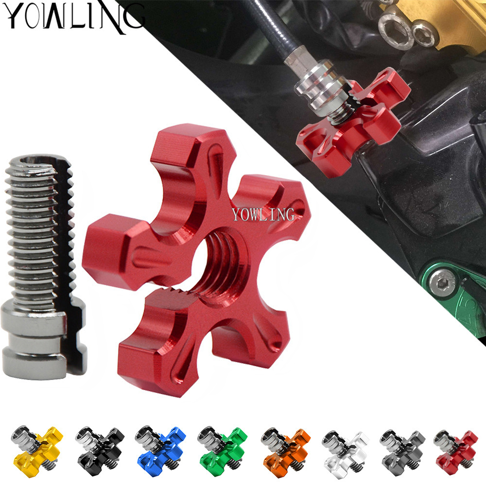 Motorcycle Clutch Cable Brake Wire Adjuster with M8 M10 Clutch Cable Screw for Honda CRF250R CRF450R <font><b>CRF</b></font> 250R <font><b>450R</b></font> 2007 -<font><b>2016</b></font> image