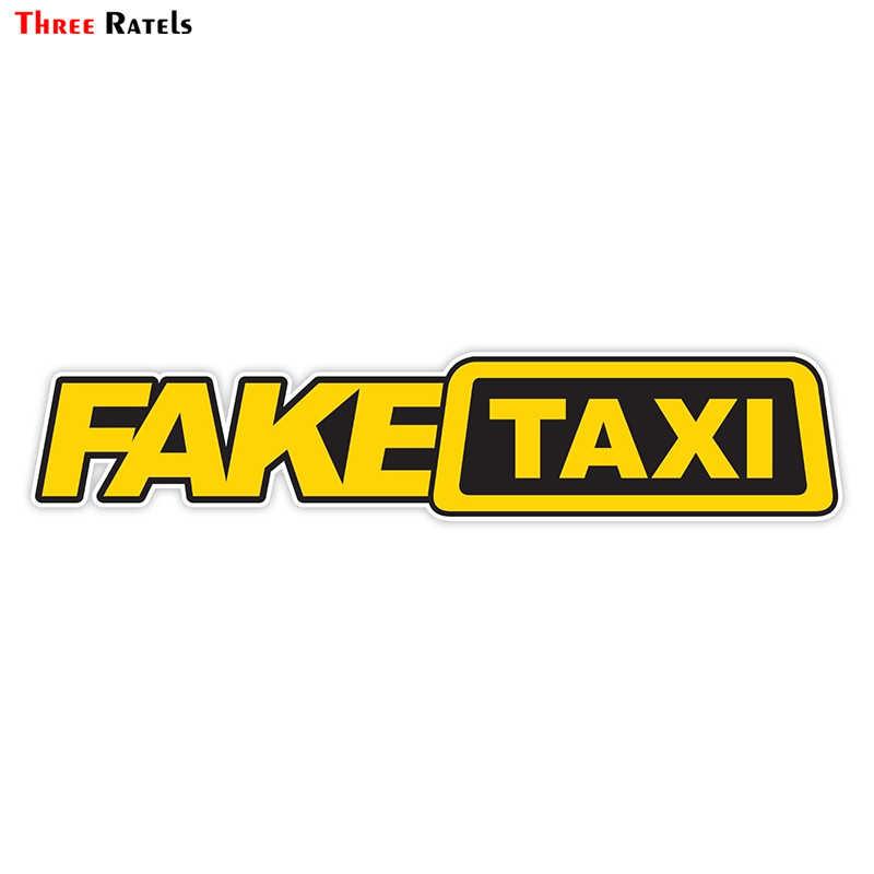 Three Ratels LCS618# 23.5x5cm Fake Taxi Поддельные такси полноцветные наклейки на авто наклейки на машину наклейка для автомобиля автонаклейка стикеры  для volkswagen