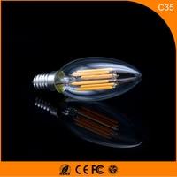 50PCS 5W E12 E14 LED Bulbs ,C35 LED Filament Candle Bulbs 360 Degree Light Lamp Vintage pendant lamps AC220V