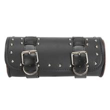 PU Leather Motorcycle Saddle Tool Bag Barrel Shaped Punk Scooter Bags For Harley Davidson Road King Electra Glide Street Glide