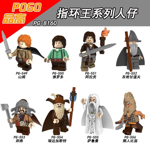 fedbf9f361d7e US $0.8 |Single Sale PG8160 Samwise Gamgee Frodo Baggins Aragorn Gandalf  Radagast Saruman Beorn Hobbit Lord of the Rings Children's Toys -in Blocks  ...