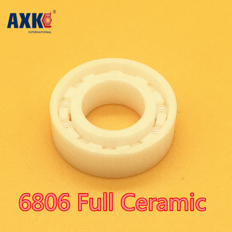2018 Real Top Fashion Axk 6806 Full Ceramic Bearing ( 1 Pc ) 30*42*7 Mm Zro2 Material 6806ce All Zirconia Ball Bearings free shipping 6806 2rs 30 42 7mm full zro2 ceramic ball bearing 30x42x7mm 61806 2rs 6806 61806 2rs for bicycle part