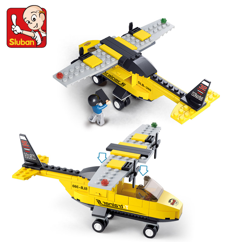 S Model Compatible with Lego B0360 110pcs Aircraft Trainer Models Building Kits Blocks Toys Hobby Hobbies For Boys Girls
