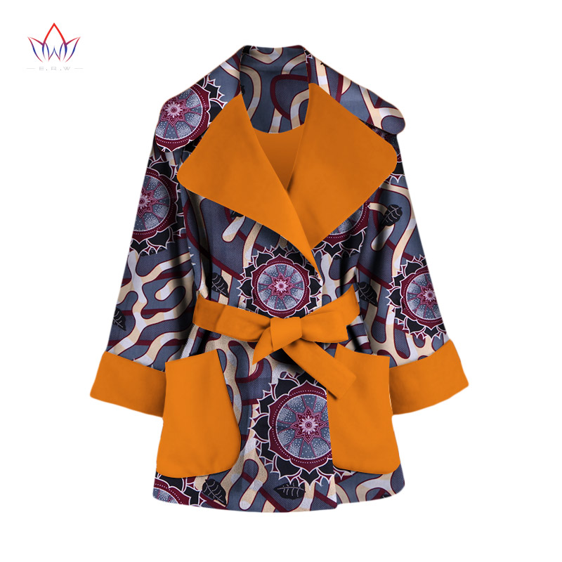 2385715c426 2018 Autumn African Trench Coat for Women Plus Size African Clothing Africa  Print Outfits Dashiki Office Outwear WY1165