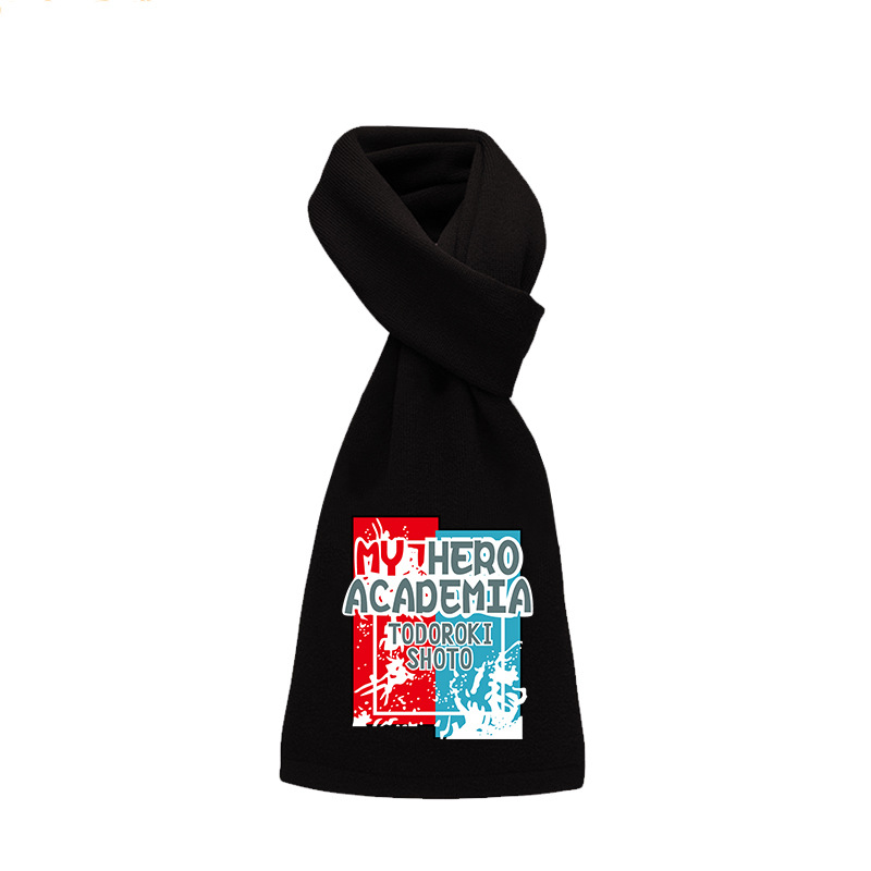 My Hero Academia Todoroki Shoto Midoriya Izuku Scarf Cosplay Costume Boku No Hero Academia Men Women Casual Scarves Neckerchief