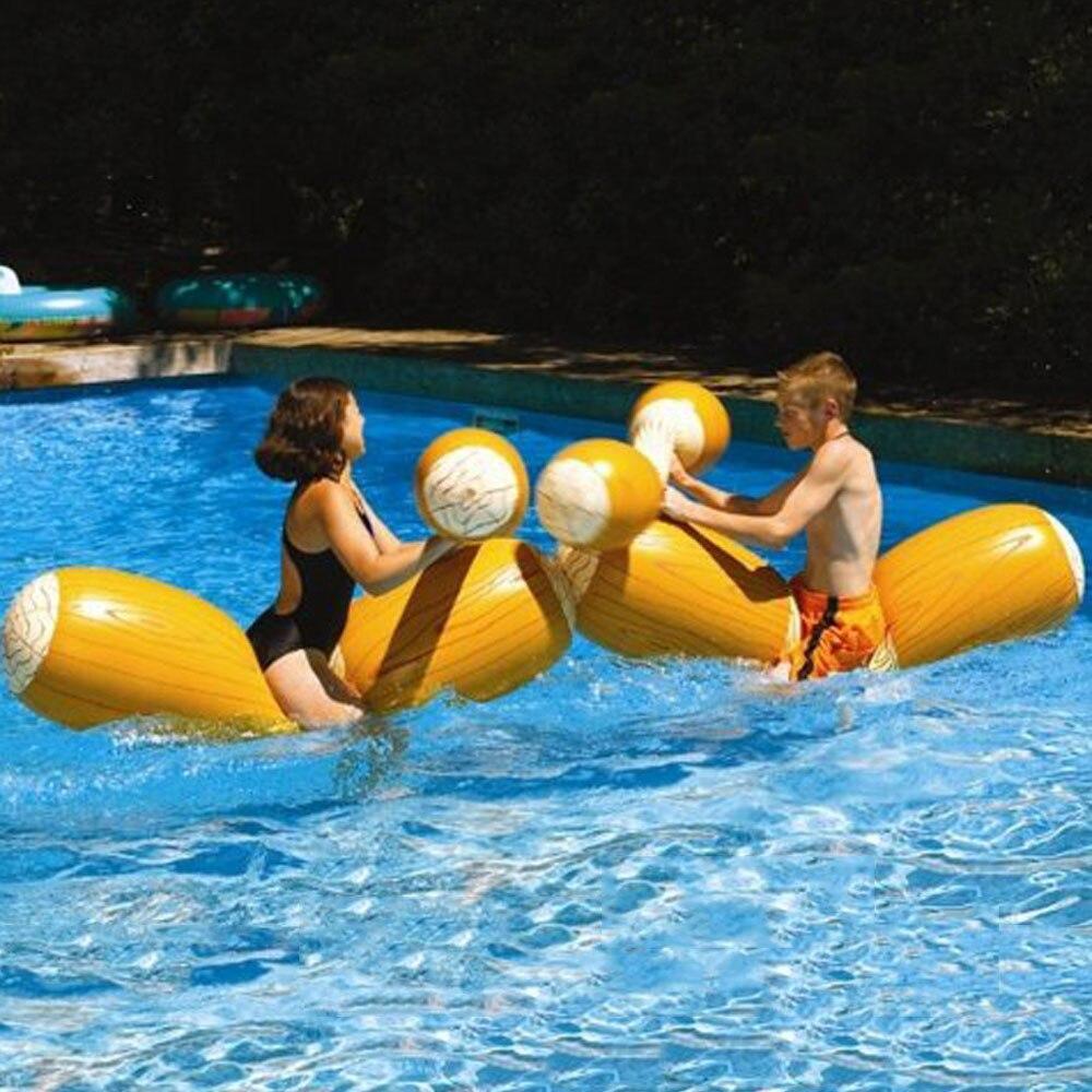 Piscine flotteur jeu gonflable Sports nautiques pare-chocs jouets pour adultes enfants partie gladiateur radeau béquille Piscina