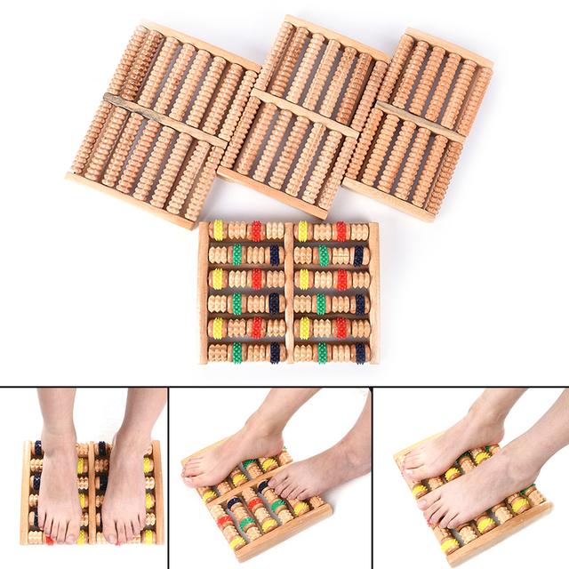 Wooden Foot Massage Roller Stress Relief