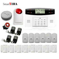 SmartYIBA SMS GSM Alarm System For Security Protection 433MHz Wireless Infrared Detector Remote Controller Alarm Kits