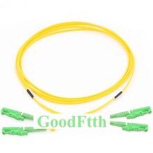 Fiber Patch Cord E2000-E2000 APC E2000/APC-E2000/APC SM Duplex GoodFtth 1-15m