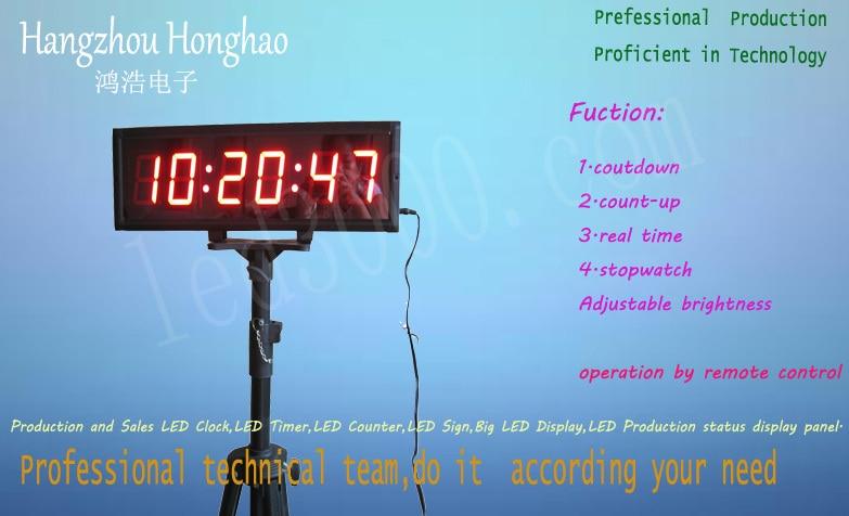Velké LED hodiny dvoubarevné hodiny s pohyblivými hodinami se - Dekorace interiéru